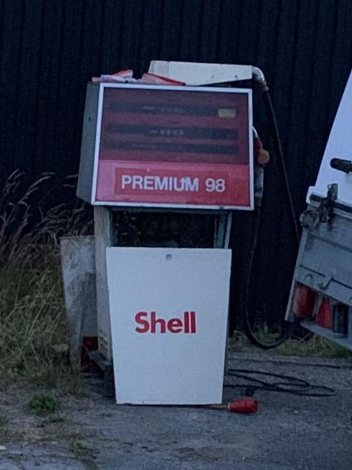 Bensinpump Shell 1975